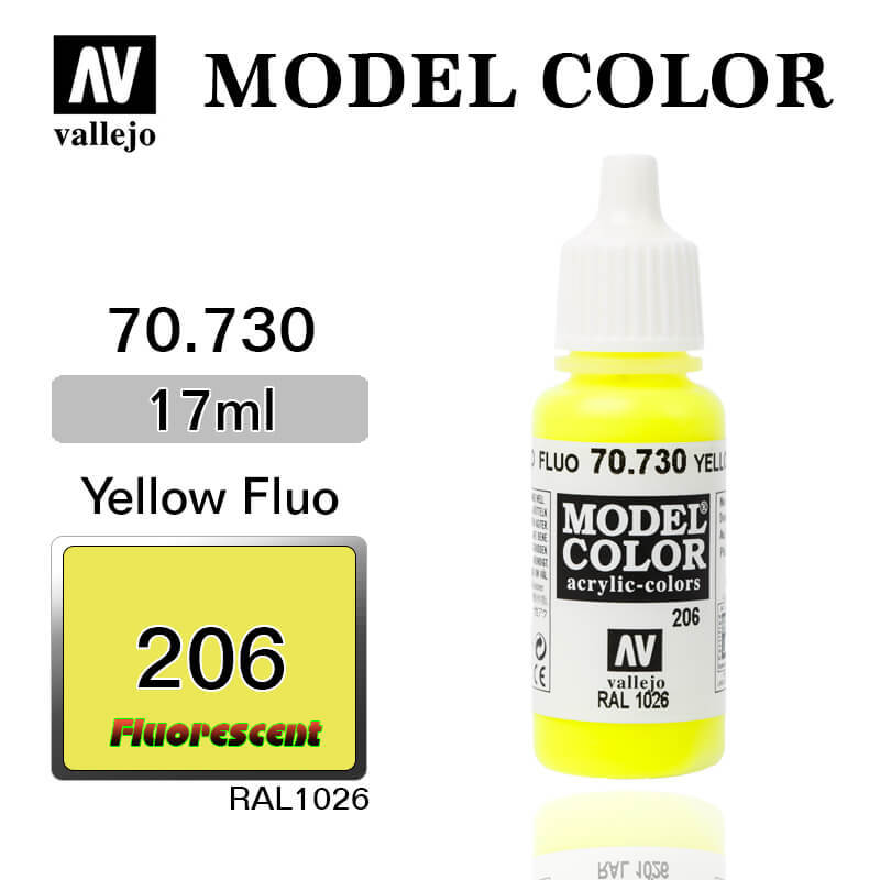 70730 17 ML. (206)-YELLOW FLUORESCENT-MODEL COLOR