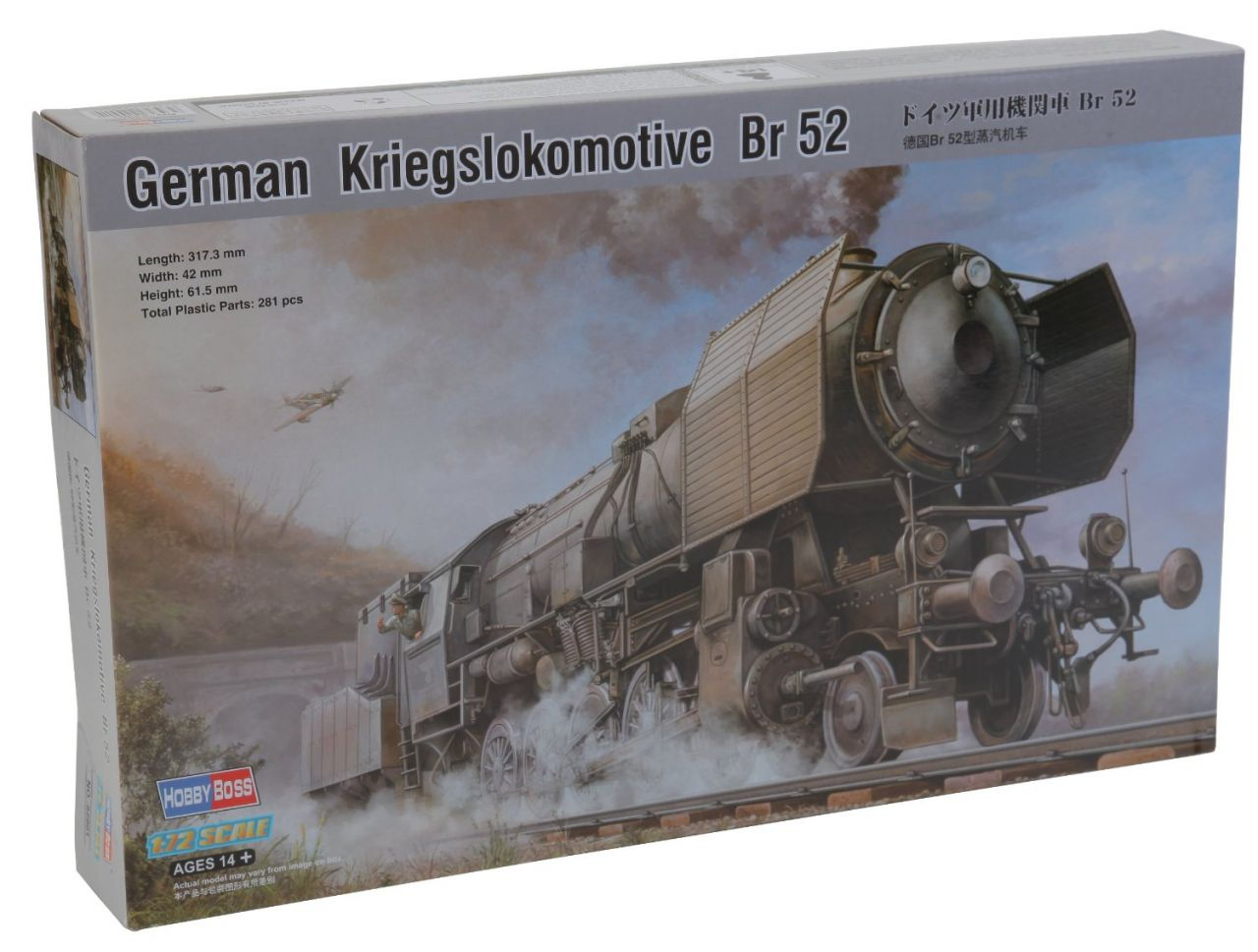 Hobbyboss 1/72 Maket German Kriegslokomotive BR-52