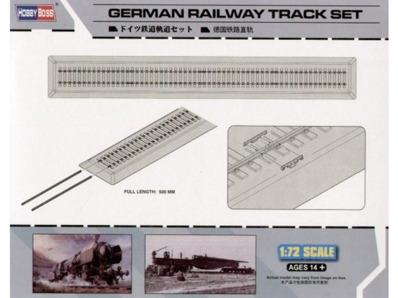 1/72 German Railway Track Set