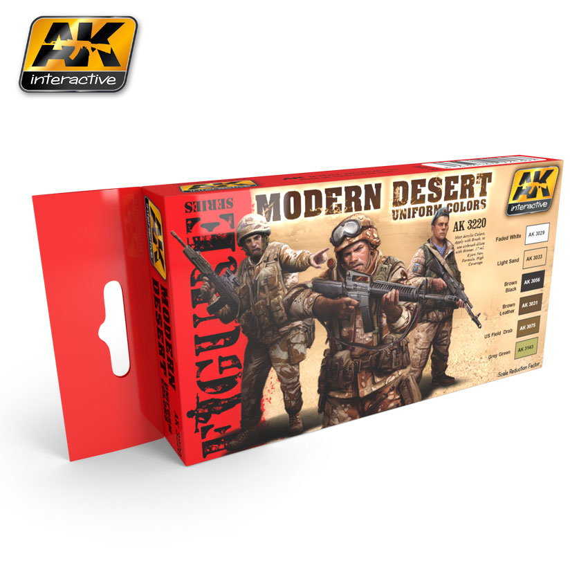 Modern Desert Uniform Colors Boyama Seti