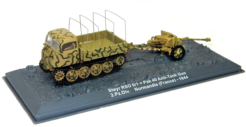 Steyr  RSO/01 + Pak 40 2.Pz.Div. Normandy (France)-1944