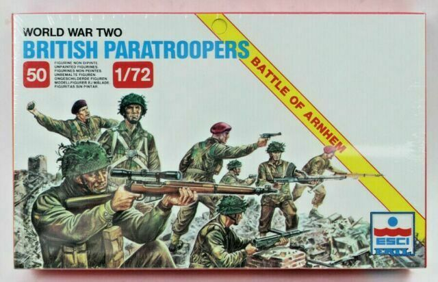1/72 World War Two British Paratroopers