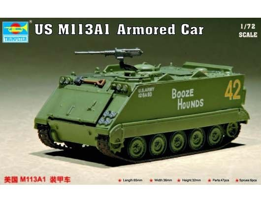 Trumpeter 1/72 Maket US M113A1 Armored Car