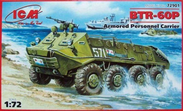 ICM 1/72 Maket Btr-60p Soviet Amphibious Wheeled 8x8 Armored Personnel Carrier