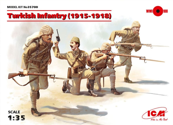 ICM 1/35 figure Turkish Infantry 1915-18