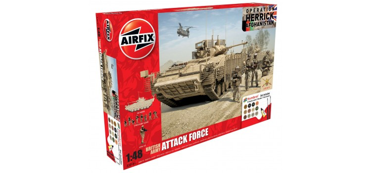 Airfix 1/48 Model British Army Attack Force Gift Set