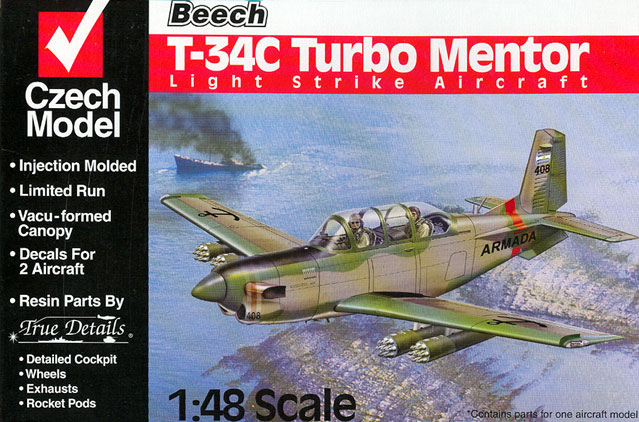 Czech Model 1/48 Model T-34C Turbo Mentor Light Strike