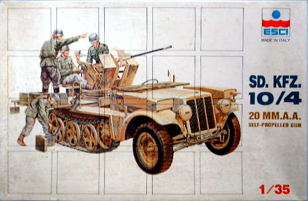ESCI 1/35 Model German IIWW Sd.Kfz.10/4 20mm Anti-Aircraft Self Propelled Gun