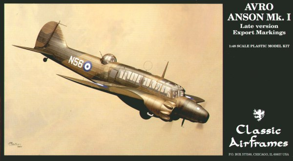 Classic Airframes 1:48 Model Avro Anson Mk.I Late version