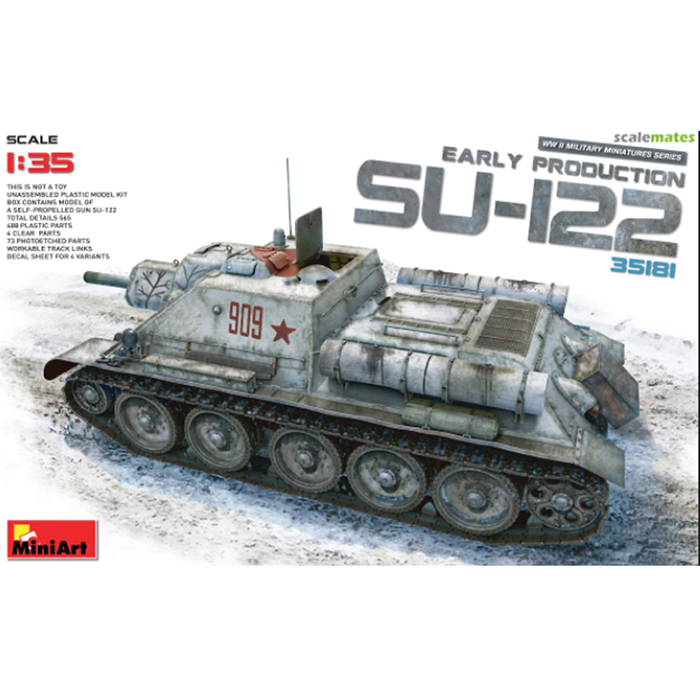 Miniart 1/35 Model Soviet Self-Propelled Gun SU-122 (Early Production)
