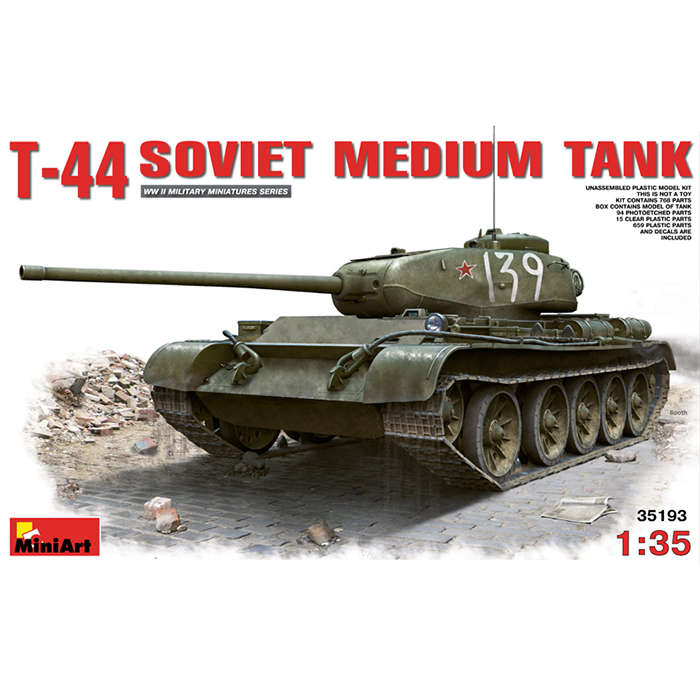 Miniart 1/35 Maket Soviet Medium Tank T-44 with Interior