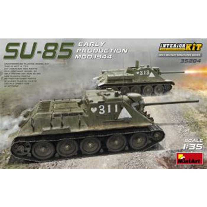 Miniart 1/35 Model Self-Propelled Gun SU-85 Early Production Mod. 1944 Interior Kit