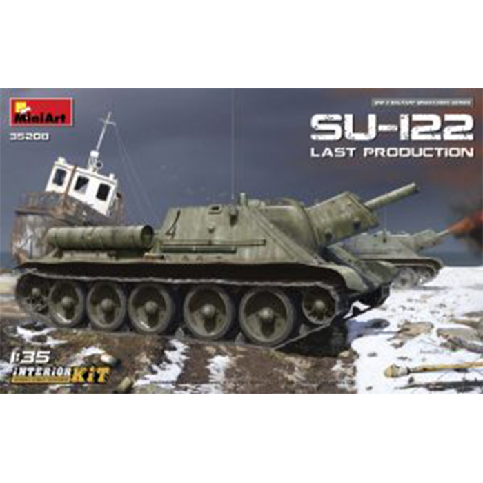 Miniart 1/35 Maket Soviet Self-Propelled Gun SU-122 (Last Production) Interior Kit