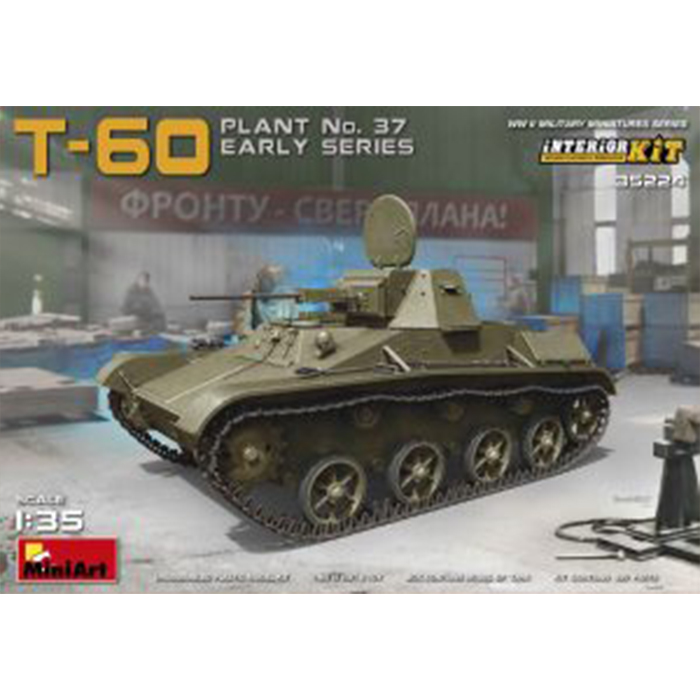 Miniart 1/35 Model Soviet Light Tank T-60 - Plant Nr. 37 (early) Interior Kit