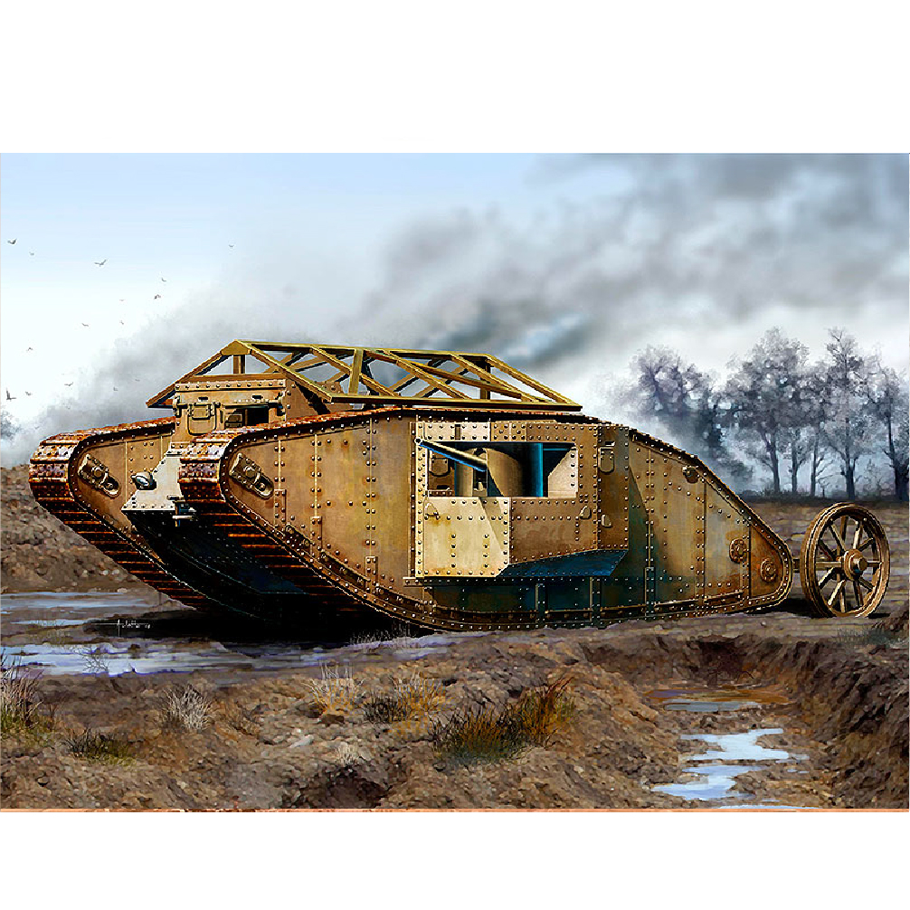 MK I Male British Tank, Somme Battle period, 1916
